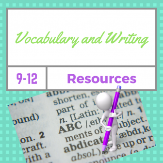 Vocabulary and Writing Resources