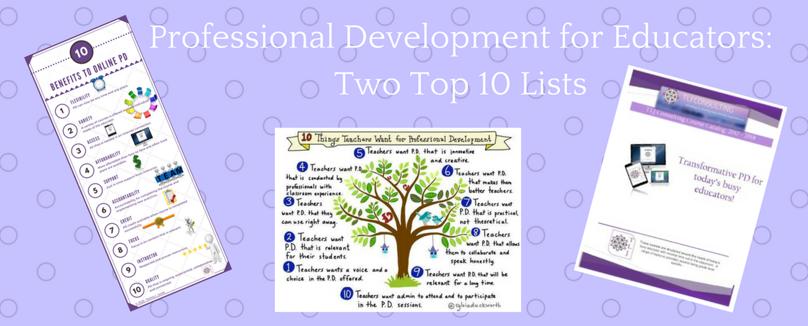 Professional Development for Educators: Two Top 10 Lists