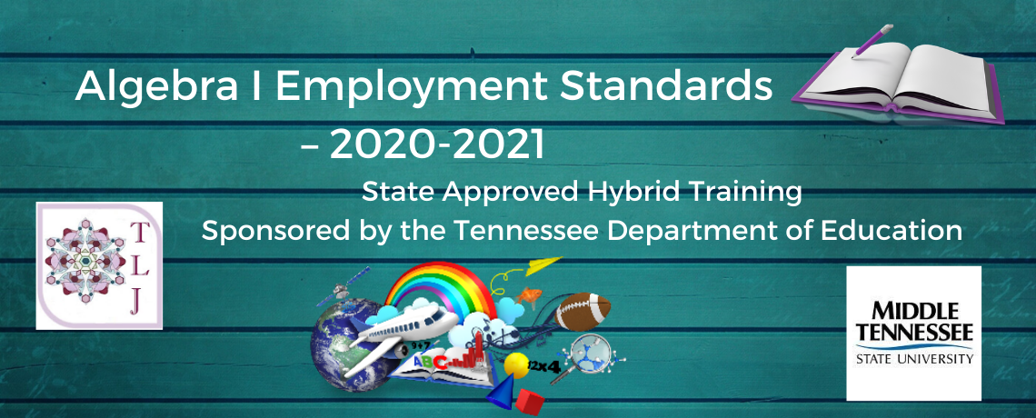 Algebra I Employment   Standards – 2020-2021